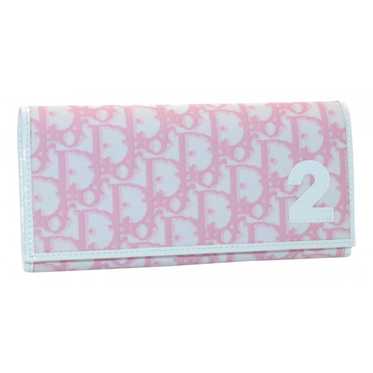 Dior - Portefeuille   pour femme en toile - rose