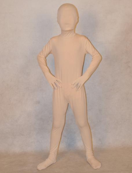 Milanoo Disfraz Halloween Zentai atractivo de elastano de marca LYCRA de color blanco  Halloween