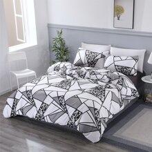 Geometric Pattern Bedding Set Without Filler