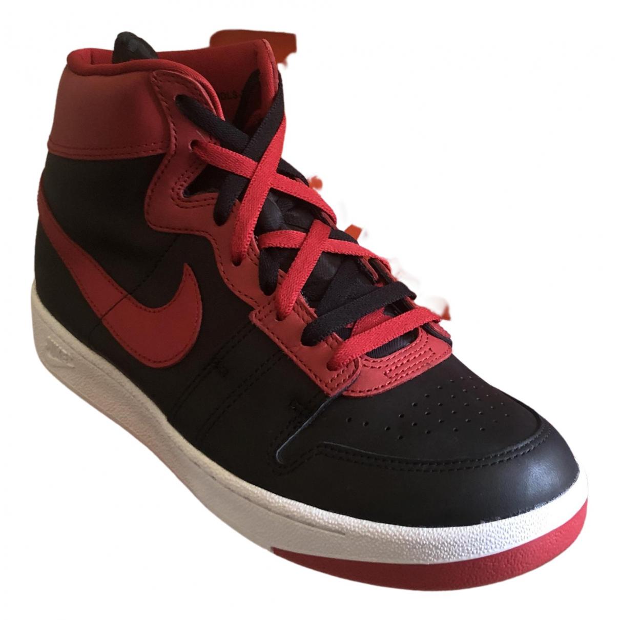 Nike - Baskets   pour homme en cuir - rouge