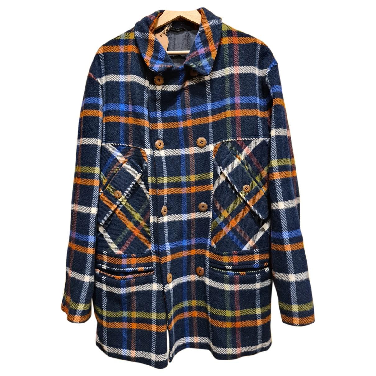 Missoni - Manteau   pour homme en laine - bleu