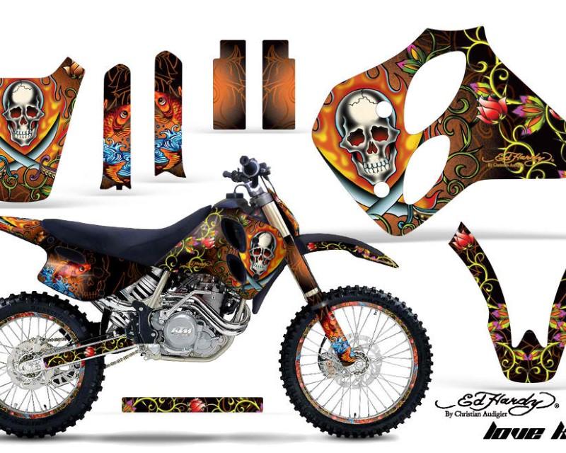 AMR Racing Graphics MX-NP-KTM-C0-93-97-EDHP O Kit Decal Sticker Wrap + # Plates For KTM SX/XC/EXC/LC4 1993-1997áEDHP ORANGE