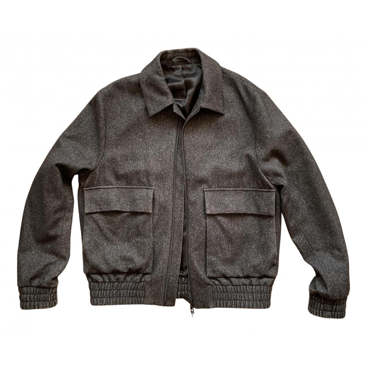 Cos - Vestes.Blousons   pour homme en laine - anthracite