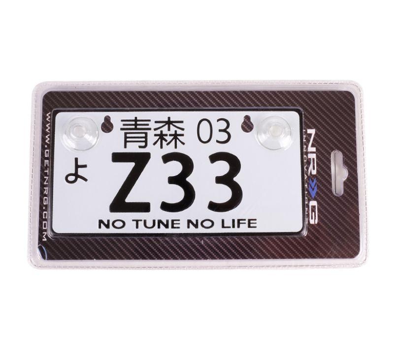 NRG MP-001-Z33 Z33 JDM Style Aluminum Mini License Plate