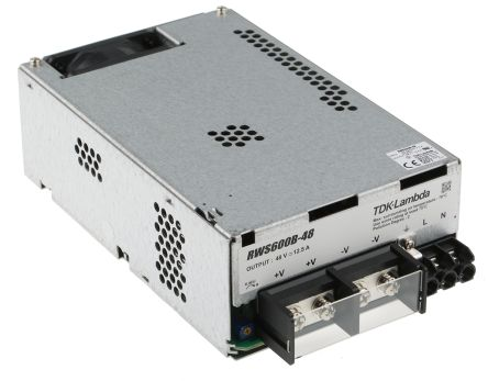TDK-Lambda , 600W Embedded Switch Mode Power Supply SMPS, 48V dc, Enclosed