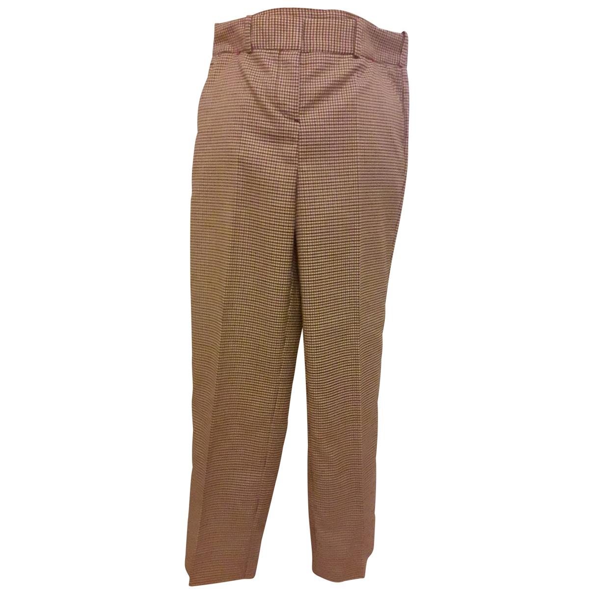 Maje Fall Winter 2019 Ecru Trousers for Women 36 FR