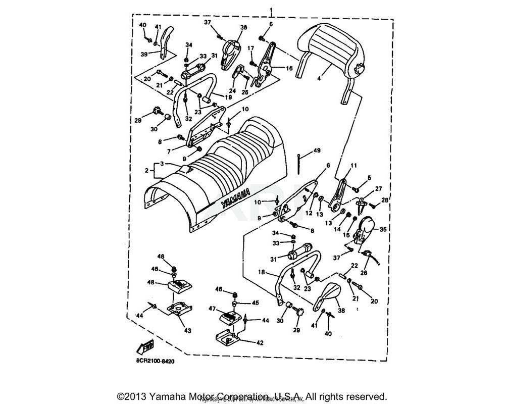 Yamaha OEM 8CW-2474A-00-00 ASSIST, GRIP