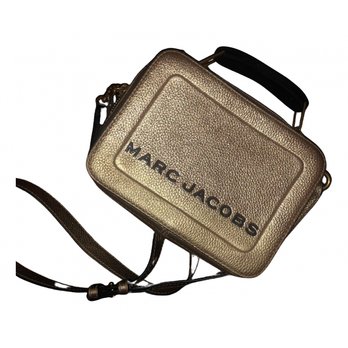 Marc Jacobs The Box Bag Handtasche in  Gold Metall
