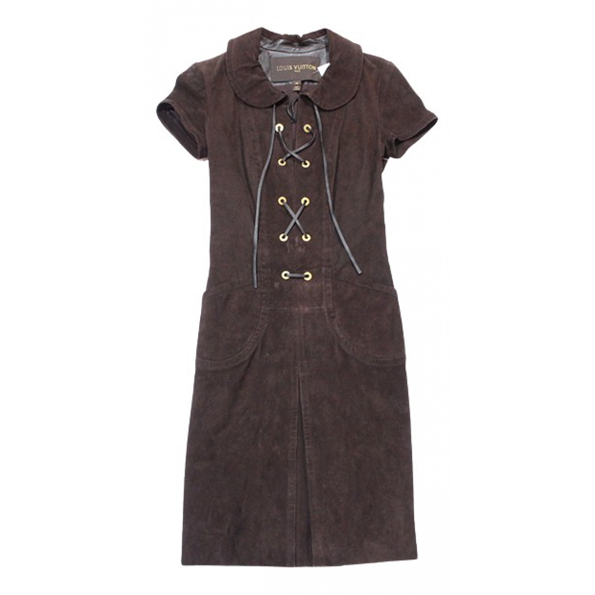 Louis Vuitton N Brown Suede dress for Women 36 FR