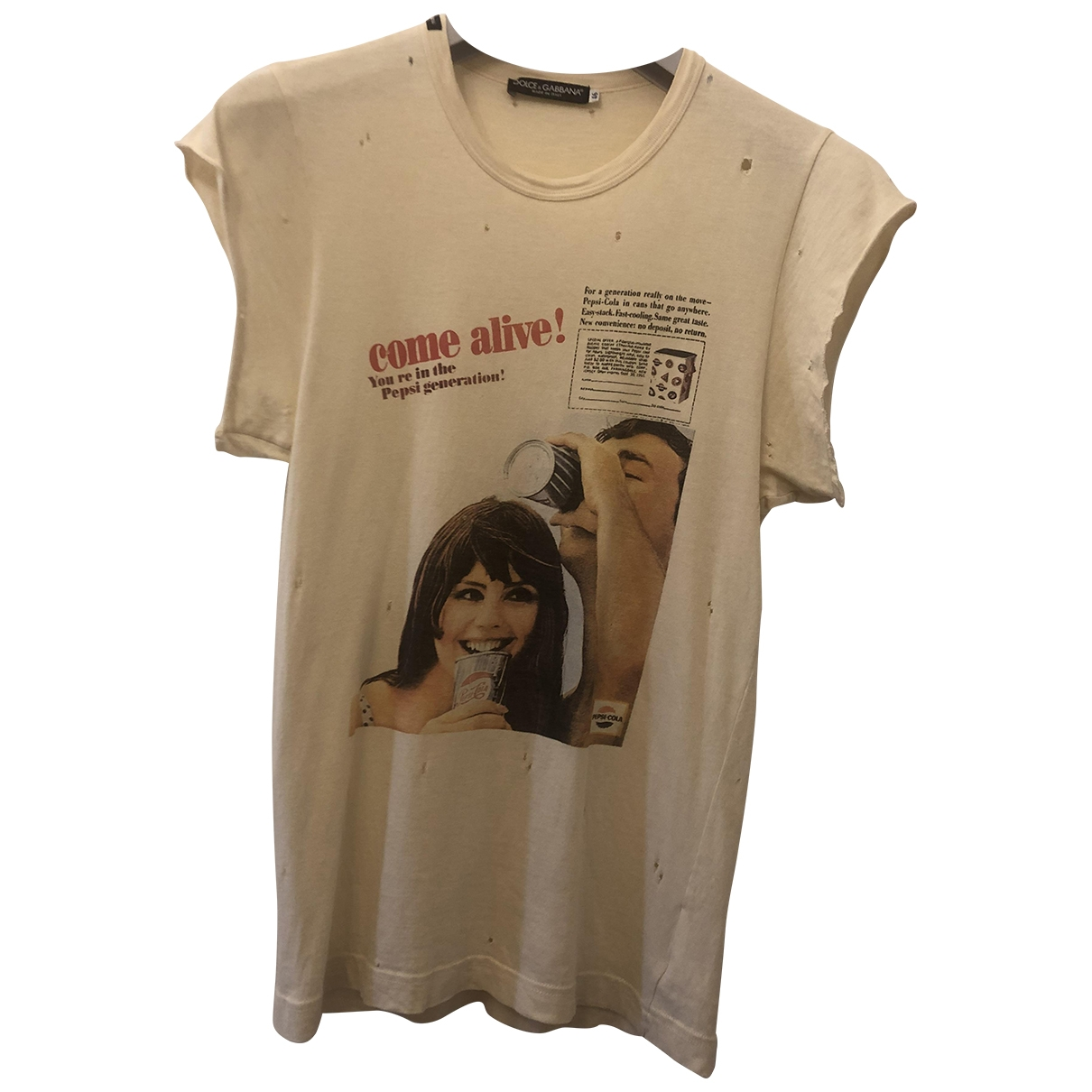 Dolce & Gabbana \N Beige Cotton T-shirts for Men M International