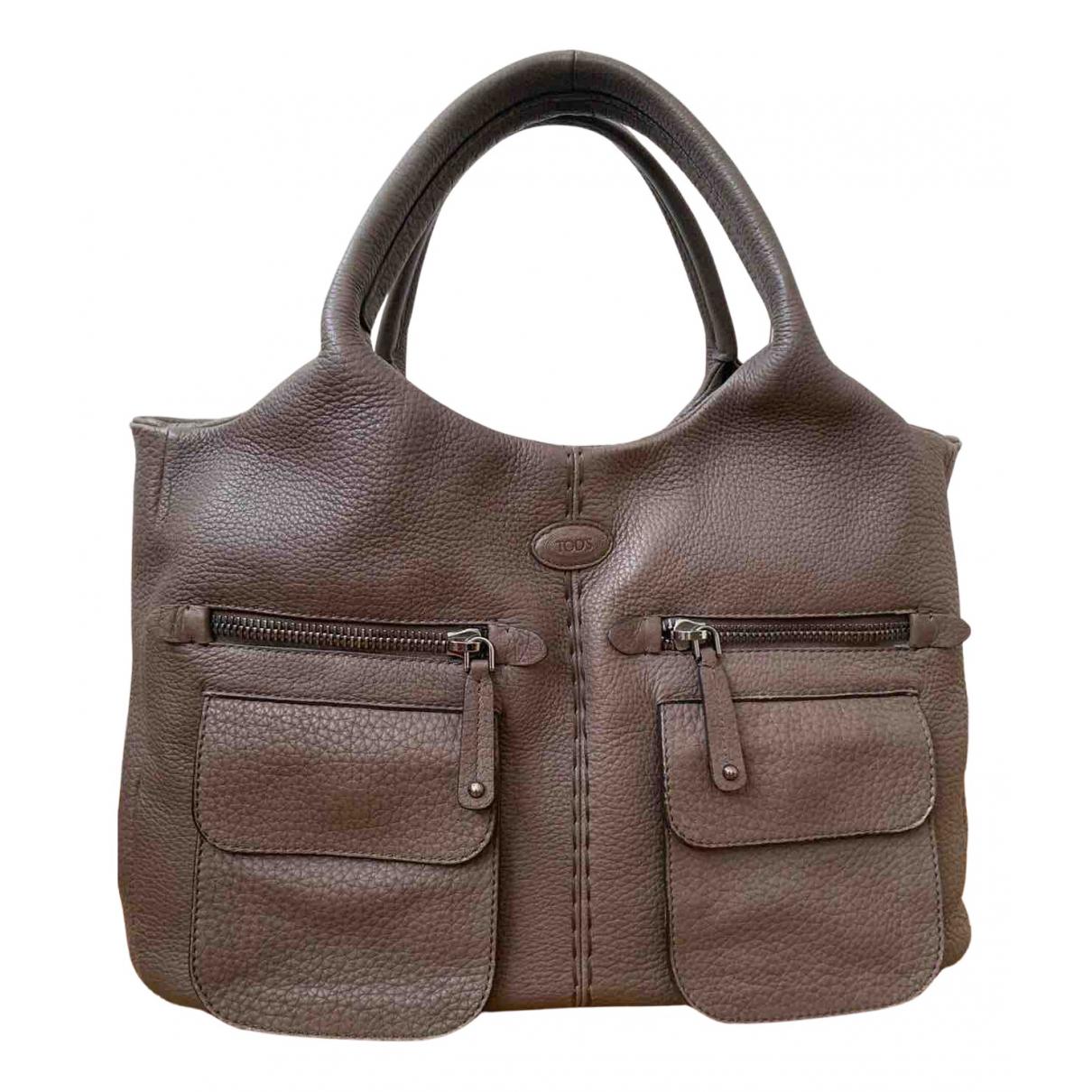 Tod's N Brown Leather handbag for Women N