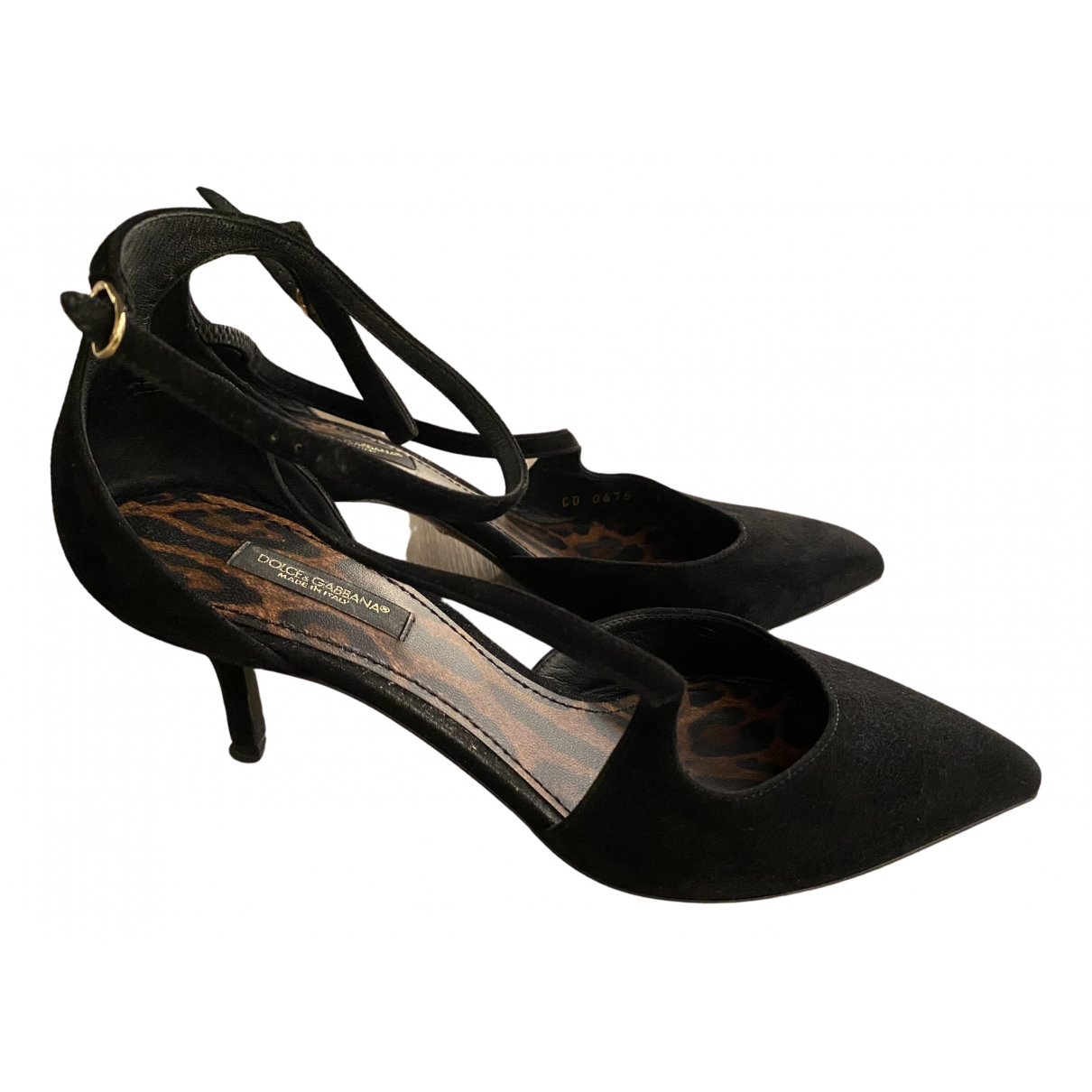 Dolce & Gabbana \N Black Suede Sandals for Women 37.5 EU
