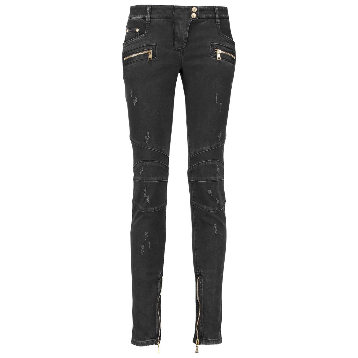 Pantalon en Denim - Vaquero Negro Balmain