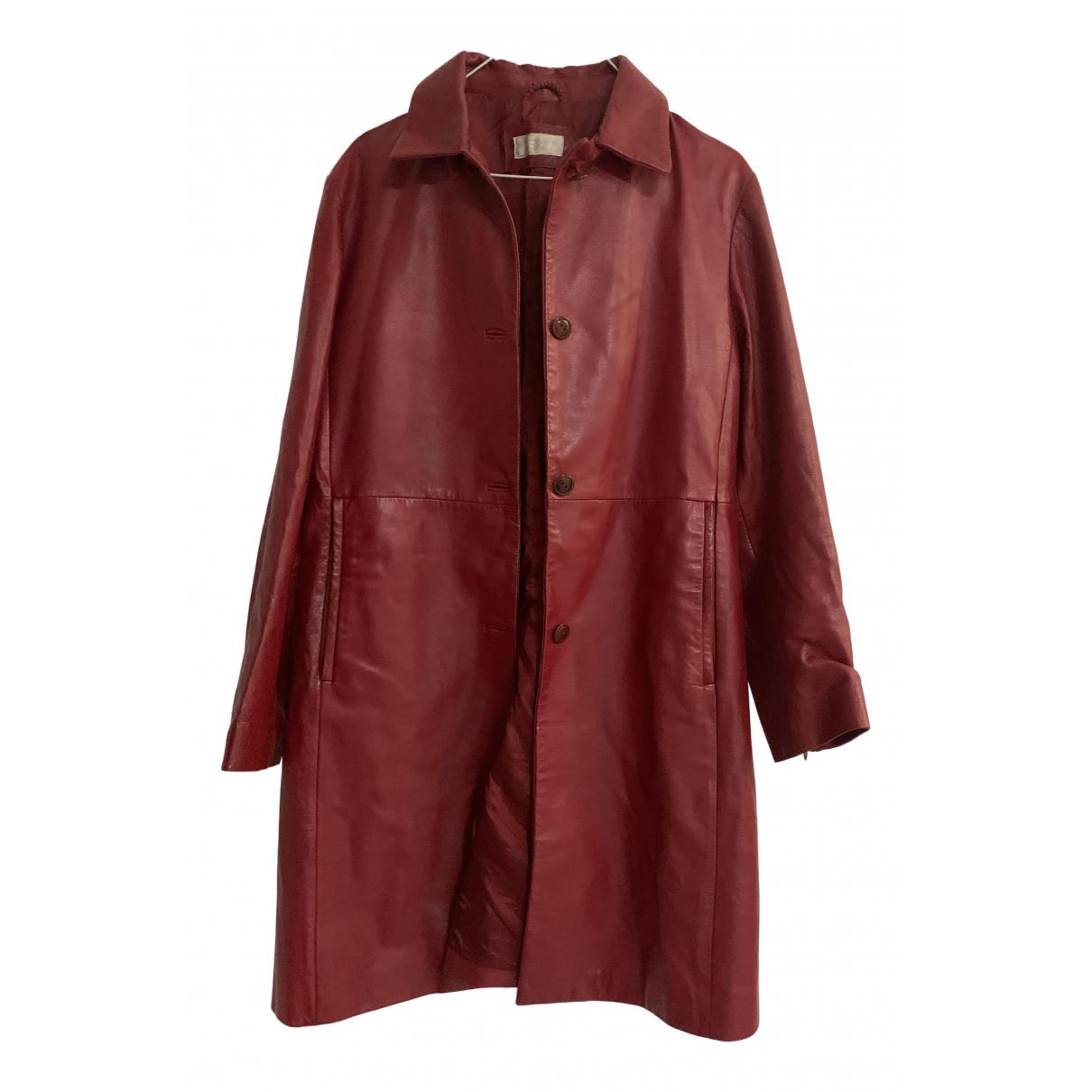 Monki \N Lederjacke in  Rot Leder