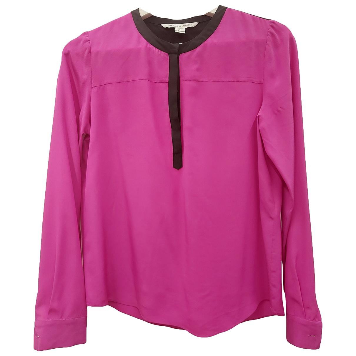 Diane Von Furstenberg - Top   pour femme en soie - rose