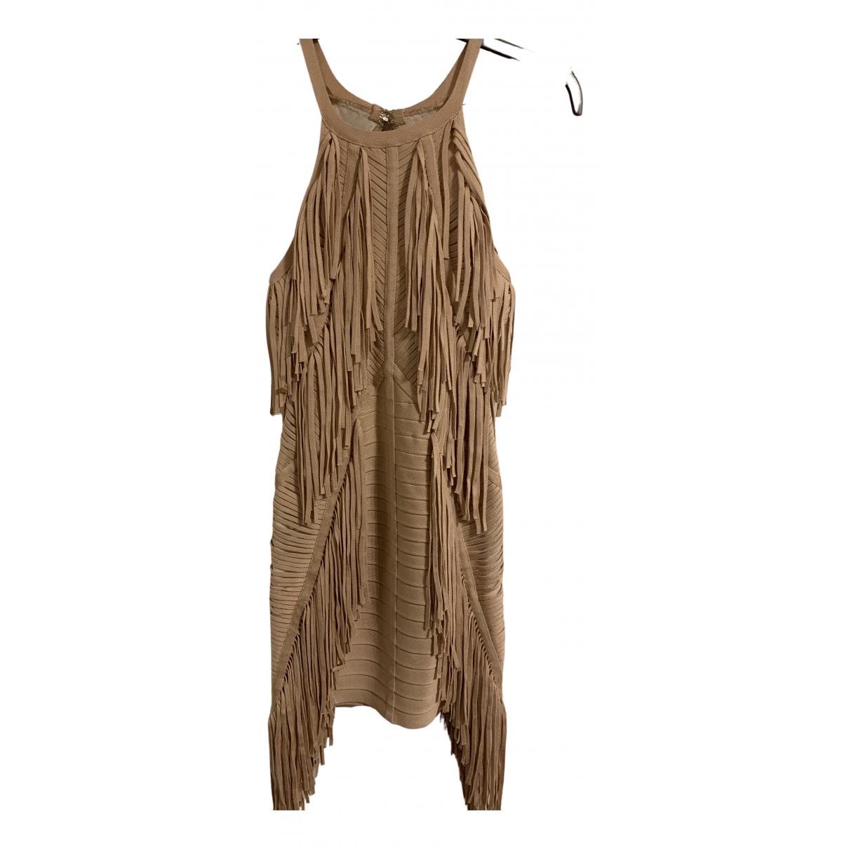 Herve Leger N Pink Cotton - elasthane dress for Women 36 FR
