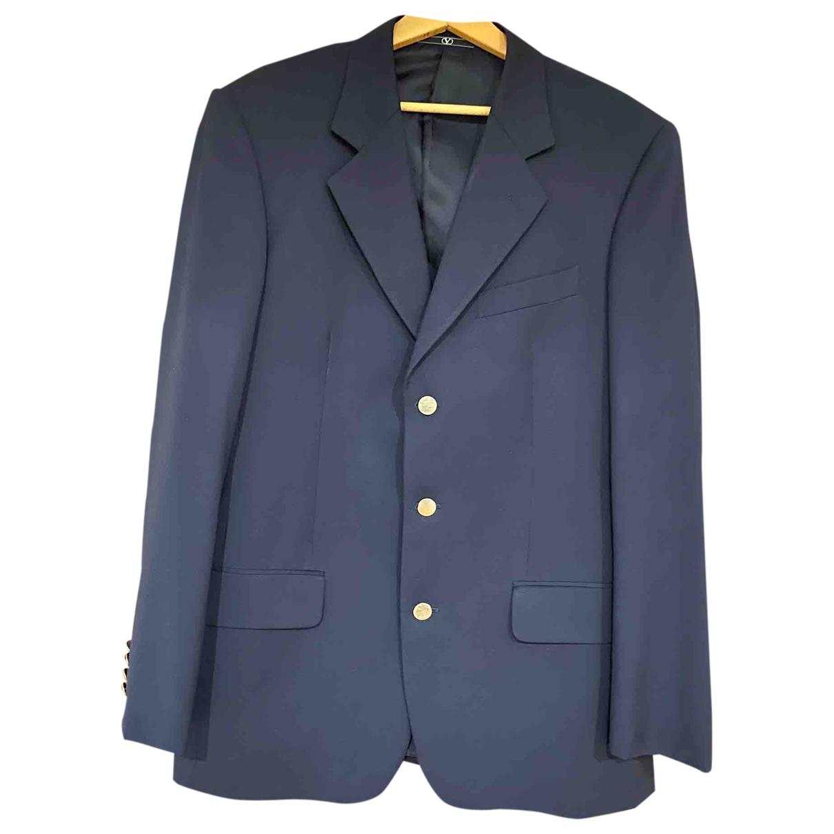 Valentino Garavani \N Blue Wool jacket  for Men 50 IT
