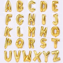 Alphabet dekorativer Ballon 1pc