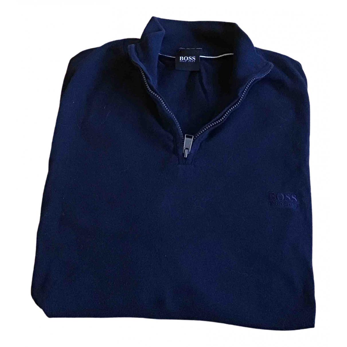 Boss \N Pullover.Westen.Sweatshirts  in  Blau Baumwolle