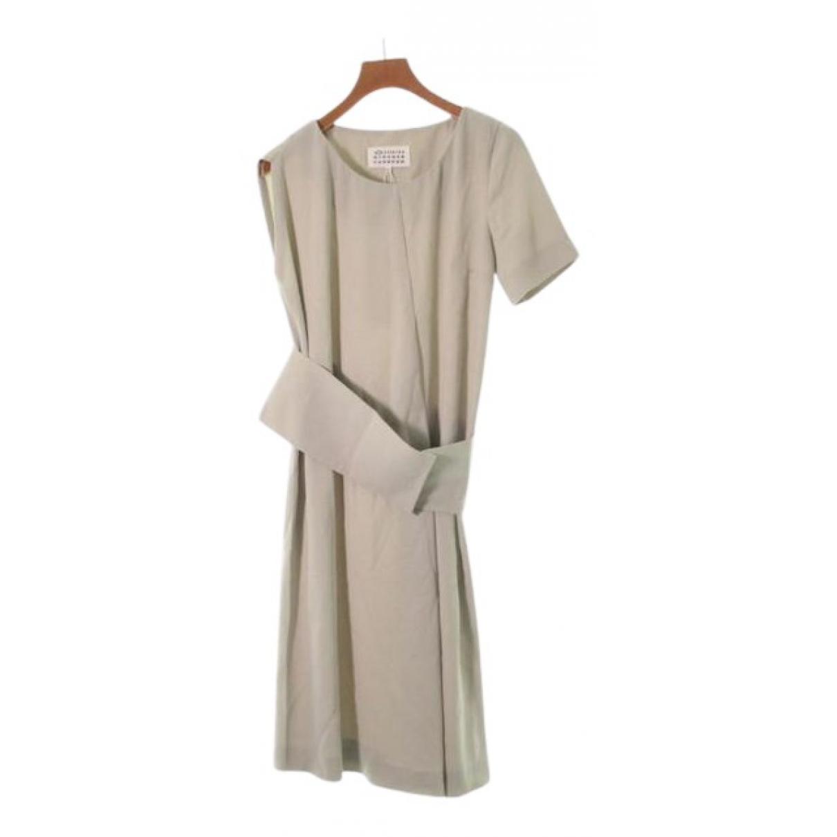 Maison Martin Margiela \N Kleid in  Beige Synthetik