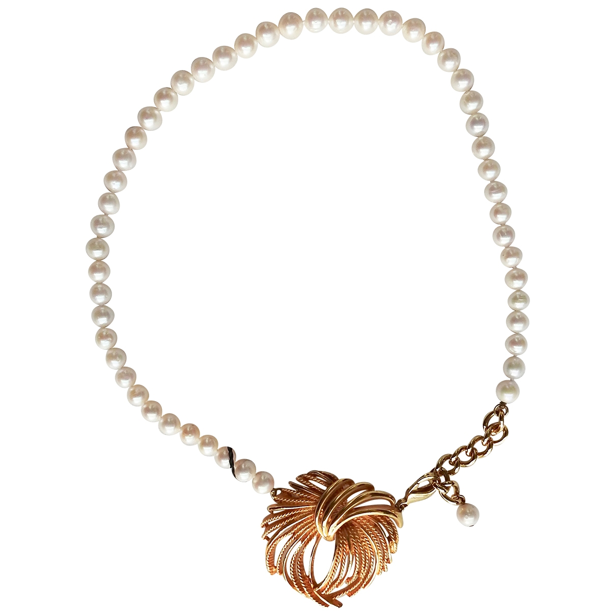 Dolce & Gabbana \N Kette in  Weiss Perlen