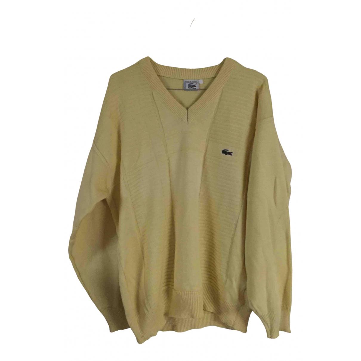Lacoste \N Pullover.Westen.Sweatshirts  in  Gelb Baumwolle