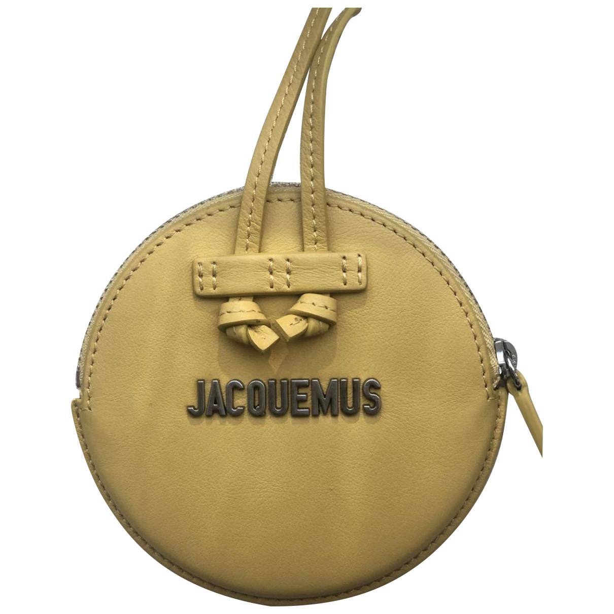 Jacquemus - Petite maroquinerie   pour homme en cuir - jaune