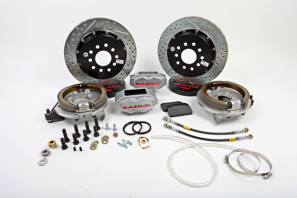 Baer Brakes Brake System 13 Inch Rear SS4+ w/Park Brake Silver 98-02 GM F Body