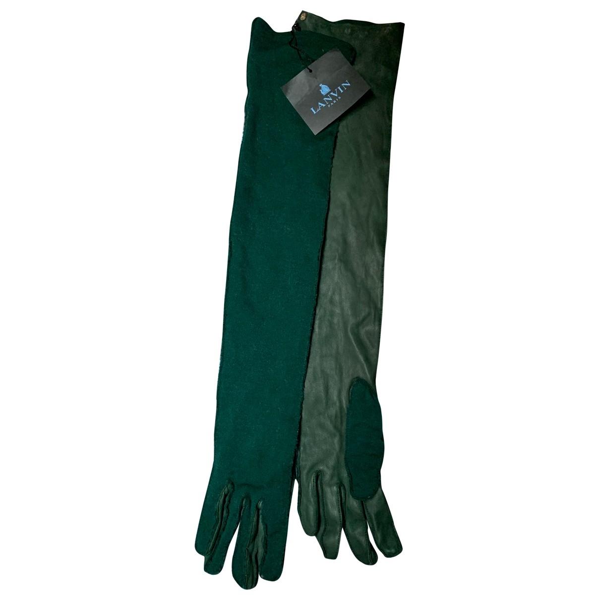 Lanvin \N Handschuhe in  Gruen Leder