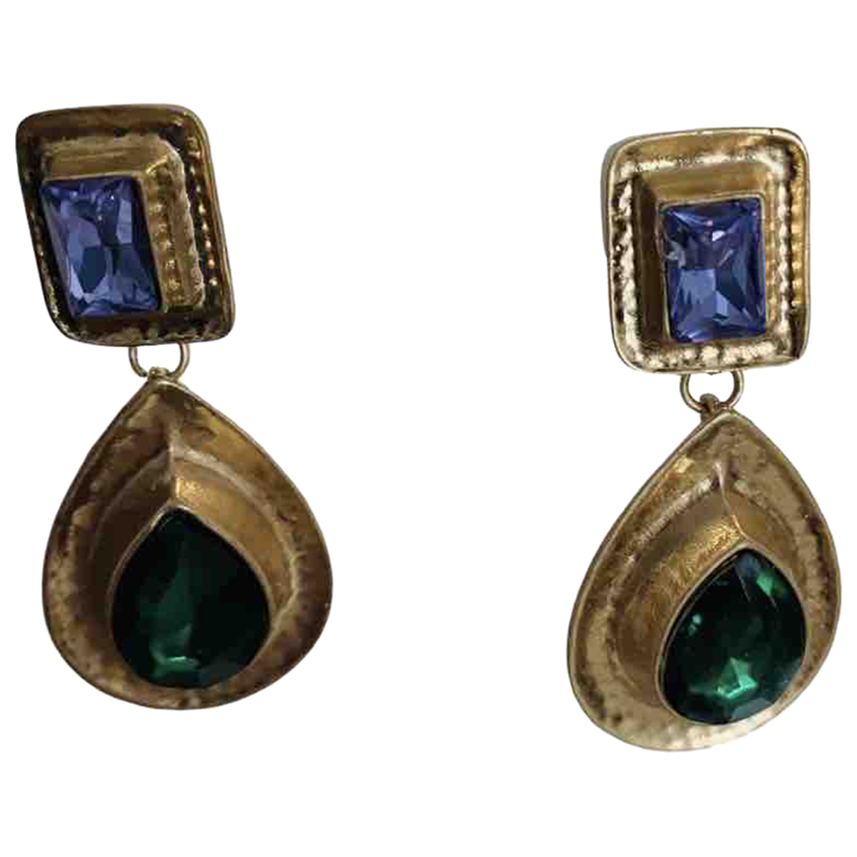 Non Signe / Unsigned Art Deco OhrRing in  Bunt Metall