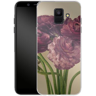 Samsung Galaxy A6 Silikon Handyhuelle - Purple Ranunculus 4 von Joy StClaire