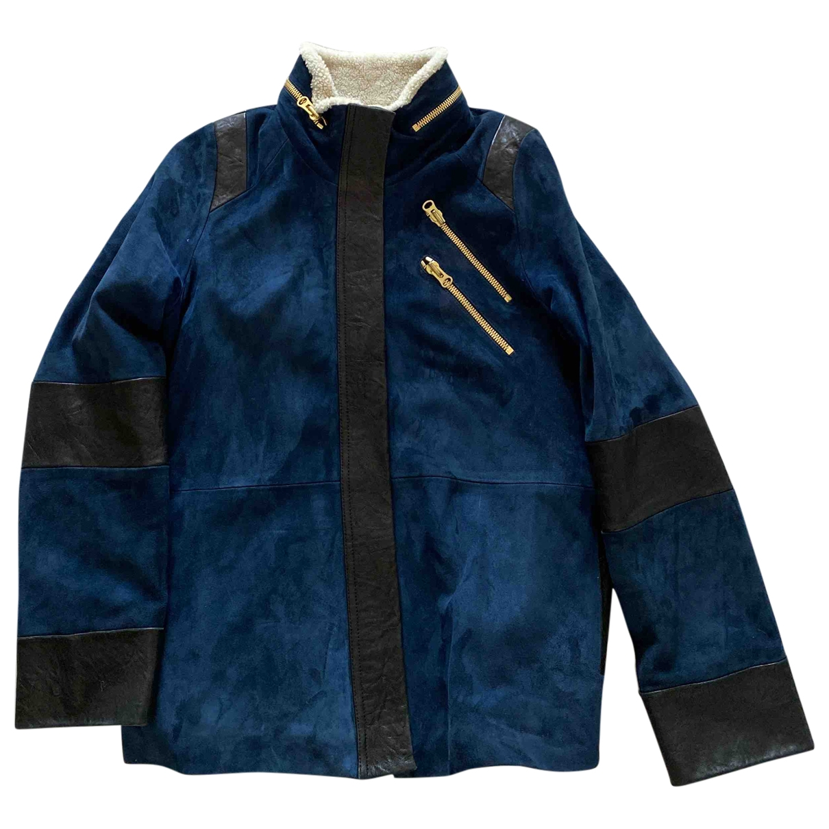 Heimstone \N Navy Leather coat for Women 36 FR