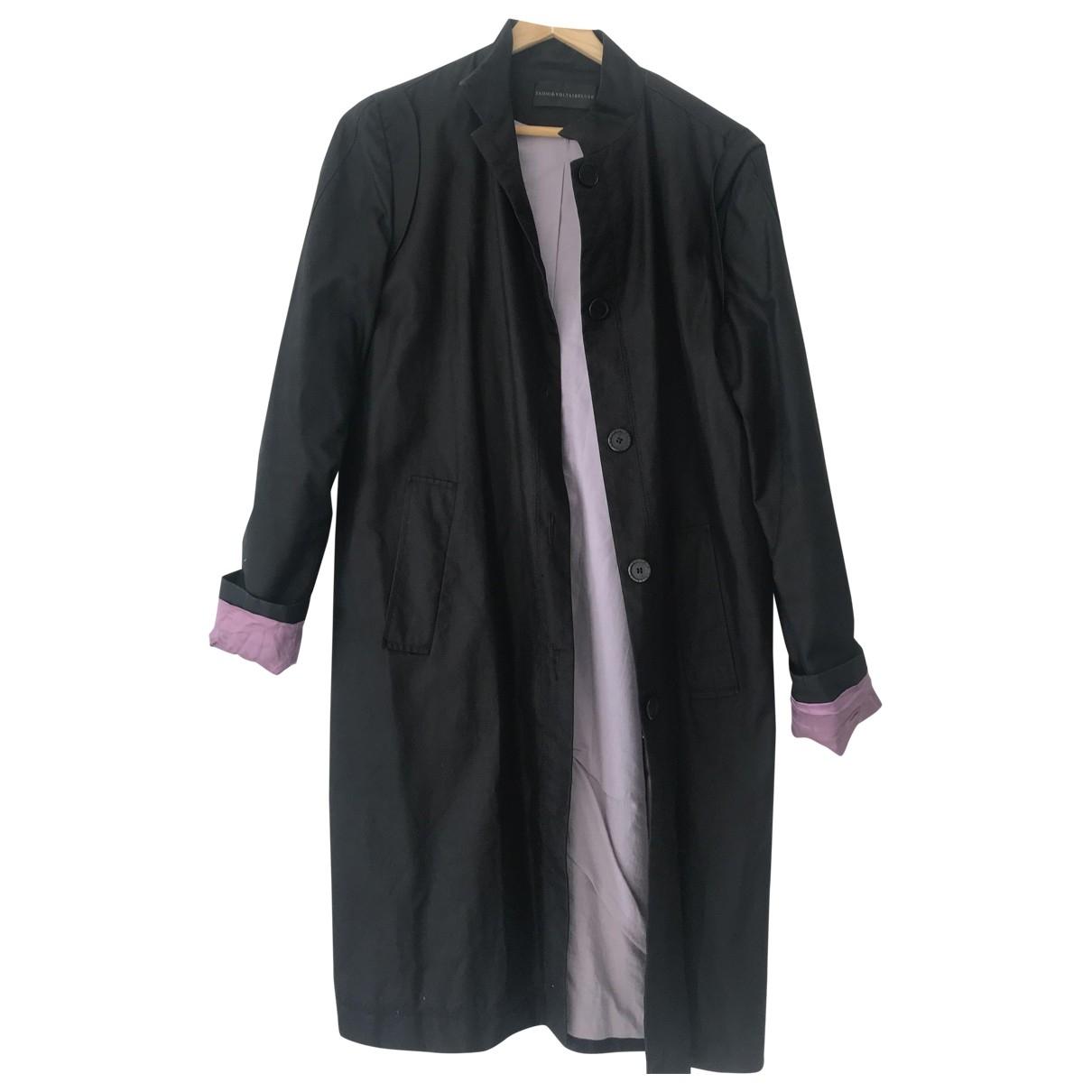 Zadig & Voltaire \N Black Cotton coat for Women M International