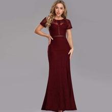 Kleid mit Raglanaermeln und Spitze