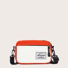 Two Tone Canvas Crossbody Bag