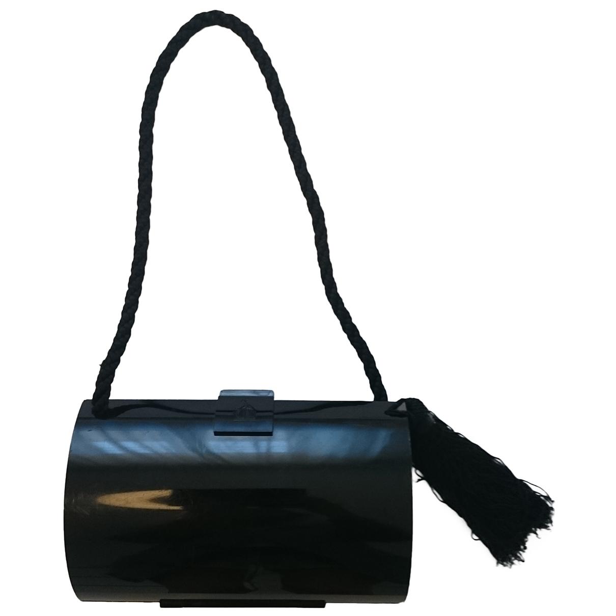 Bolsos clutch en Plastico Negro Lanvin
