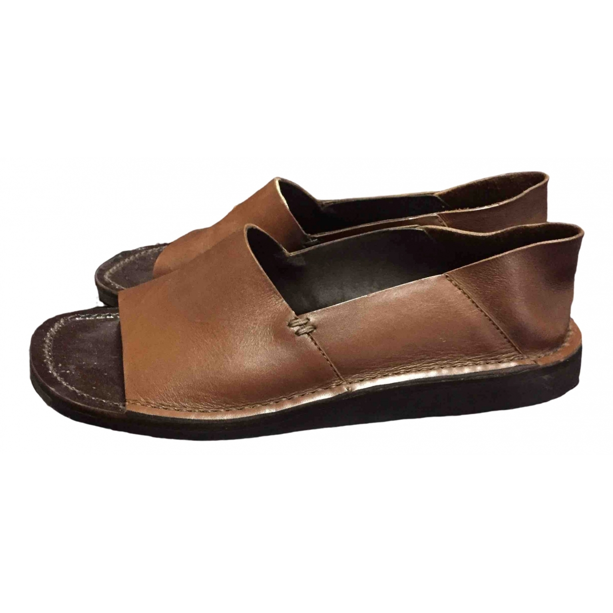 Prada \N Brown Leather Espadrilles for Women 37 EU