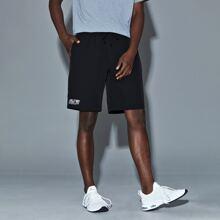 Men Reflective Panel Sports Shorts