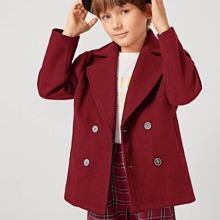 Mantel mit eingekerbtem Kragen
