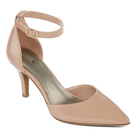 Worthington Womens Kasen Pumps Cone Heel, 8 1/2 Medium, Brown