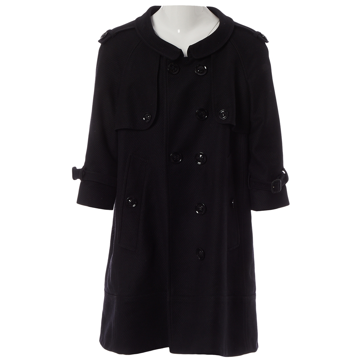 Burberry \N Black Wool coat for Women 14 UK