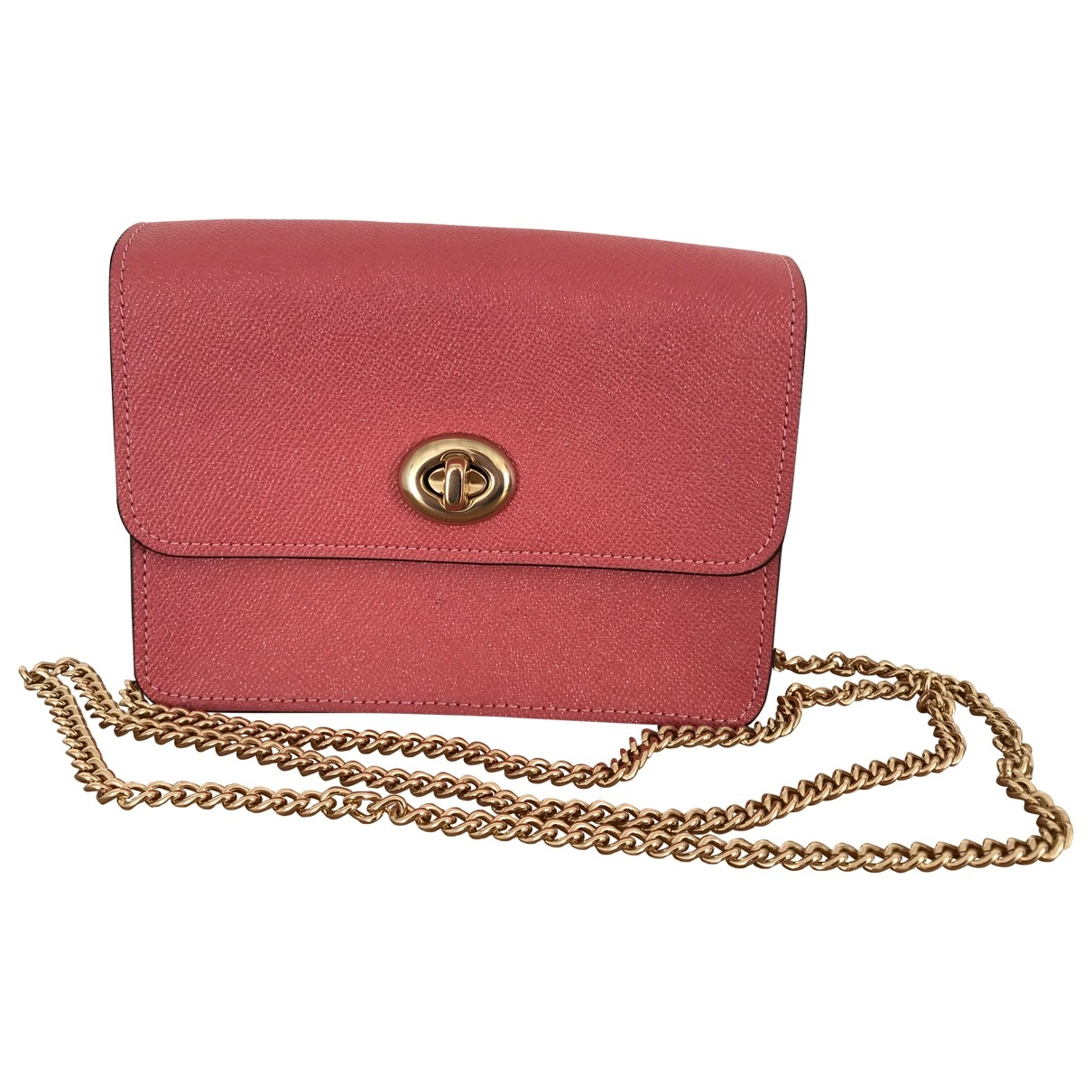 Coach \N Pink Leather Clutch bag for Women \N