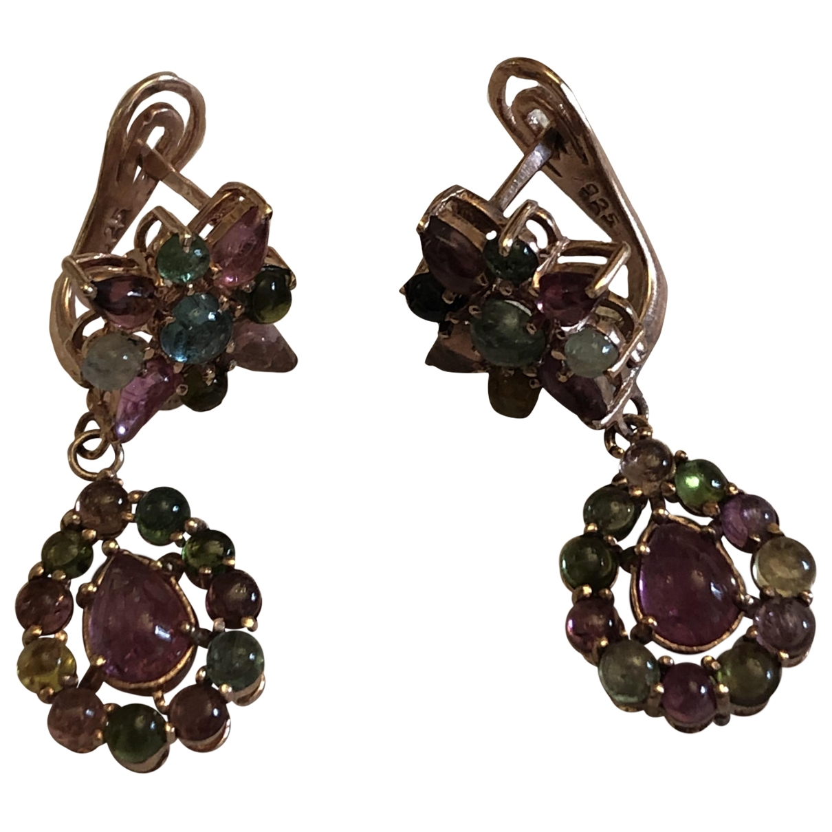 Non Signé / Unsigned \N Multicolour Silver Earrings for Women \N