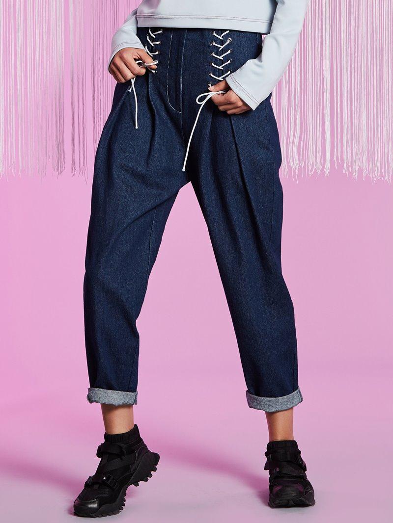 Loose Full Length Wide Legs Women's Jeans