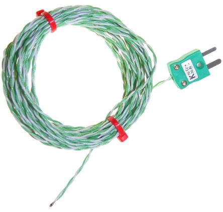 RS PRO Type K Thermocouple 2m Length, → +250°C