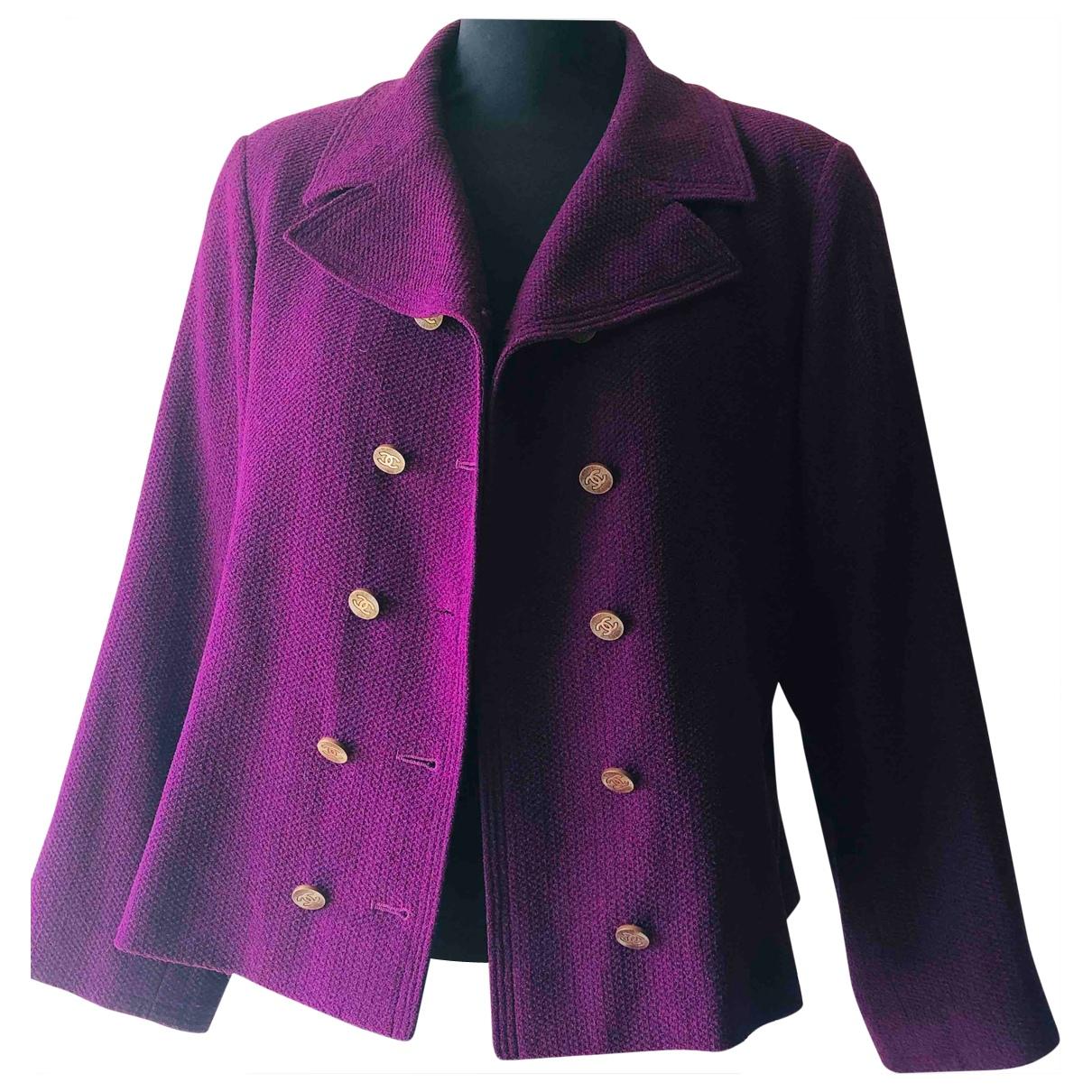 Chanel - Veste   pour femme en laine - violet