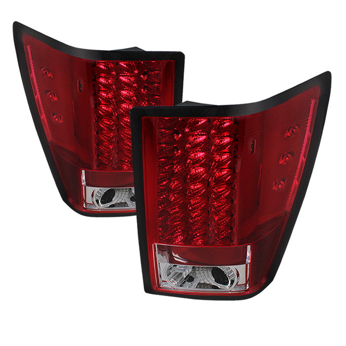 Spyder Auto ALT-YD-JGC07-LED-RC Red Clear LED Taillights Jeep Grand Cherokee 07-10