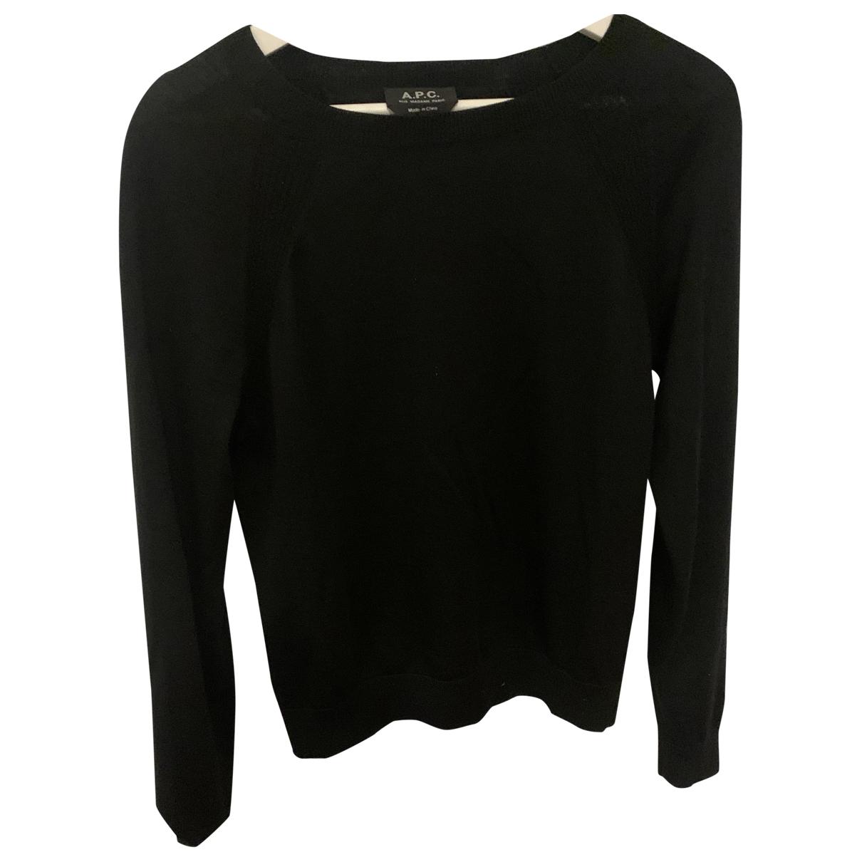 Apc - Pull   pour femme en laine - noir