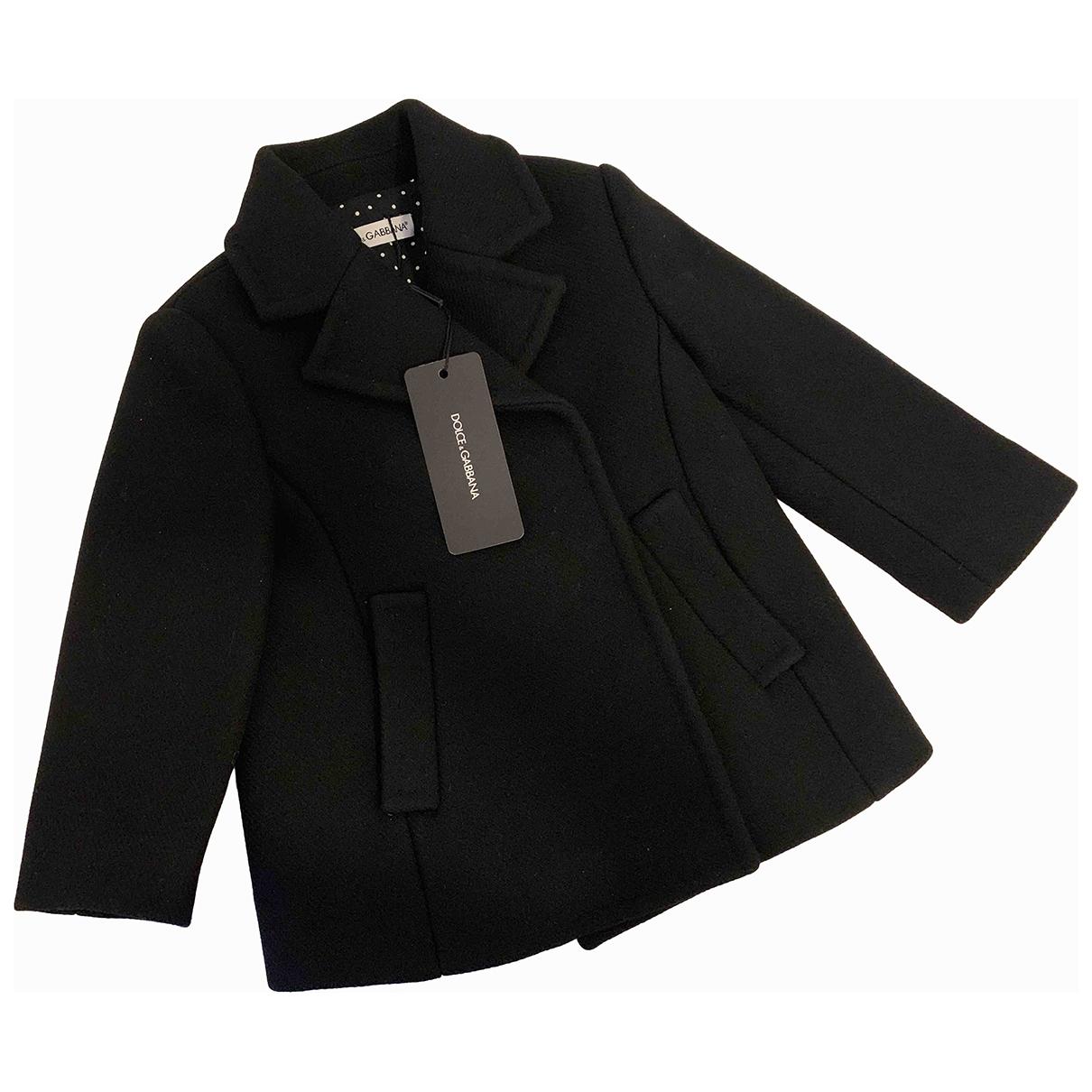 Dolce & Gabbana \N Jacke, Maentel in  Schwarz Wolle
