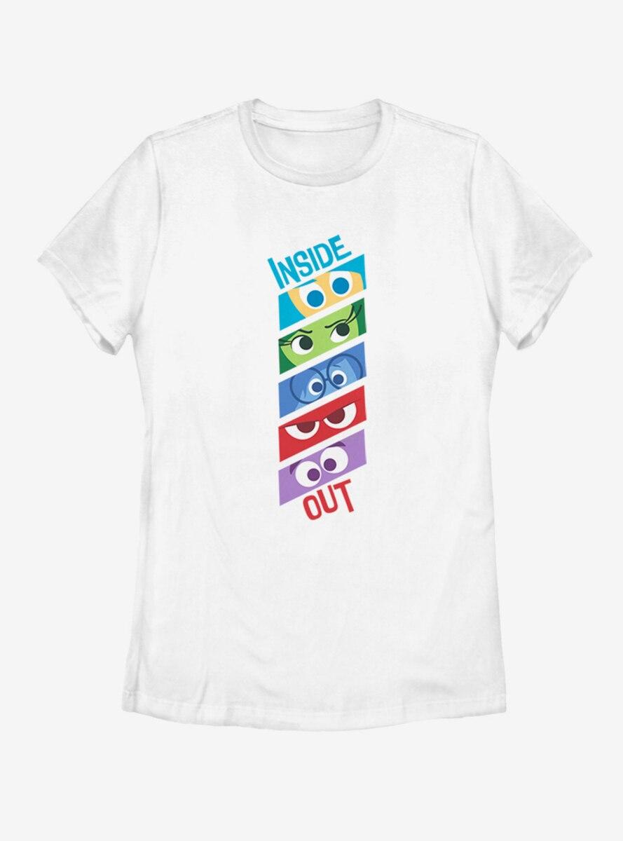 Disney Pixar Inside Out Emotion Eyes Womens T-Shirt